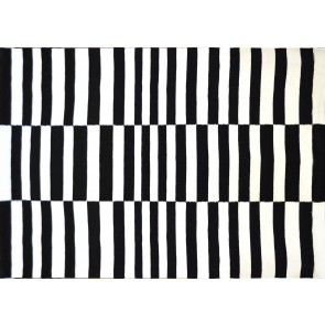 KELIM GALLE OP ART BLACK NAT 140x200