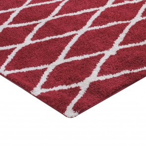 Pack de 2 Alfombras Shaggy Jacinta 1384 Red Cotton 060x120cm