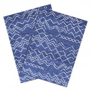 Pack de 2 Alfombras Shaggy Jacinta Blue Cotton 060x120cm