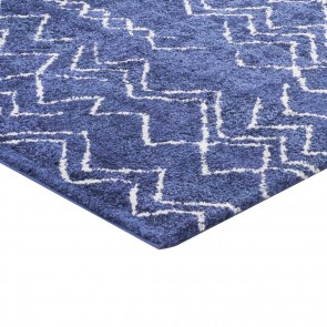 Pack de 2 Alfombras Shaggy Jacinta 1455 Blue Cotton 060x120cm