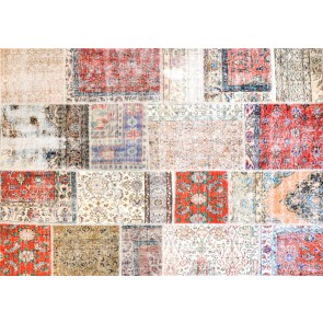 Alfombra Patchwork de Lana Ant Nor Multicolor